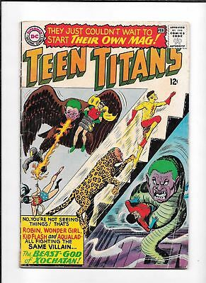 Teen Titans #1 ==> Vg- 1St Series Of Their Own Dc Comics 1966