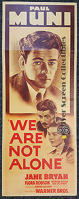 We Are Not Alone - Paul Muni - Vintage Insert Movie Poster