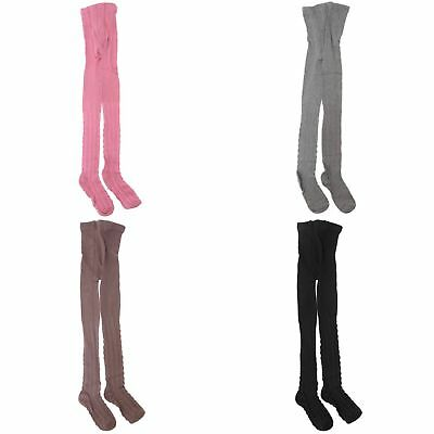 Girls Cable Design Cotton Rich Tights