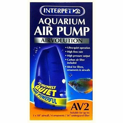 Interpet Limited Airvolution AV2 Aquarium Air Pump (UK Plug)