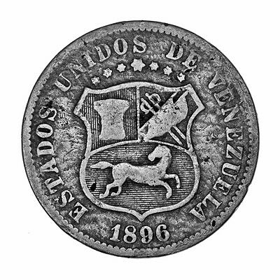 Venezuela 1896 12 1/2 Centimos Coin Actual Photos Shown *FREE USA SHIPPING*