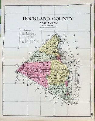 1912 Rockland County New Century Copy Atlas Map Counties Of The State Of Ny
