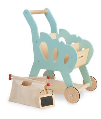 NEW Le Toy Van Honeybake Wooden Toy Shopping Trolley Cart