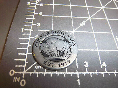 Custer State Park South Dakota Collector Metal Token, est 1919, Black Hills