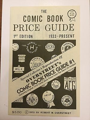 Overstreet Price Guide 1st edition - Special Collector's Reproduction
