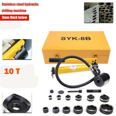 10T6 Dies Heavy Duty Hydraulic Metal Hole Punch Kit Hand Tool Conduit 22-60.5mm