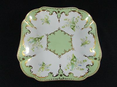 Copeland's Antique China Hand Painted Dish Lily of the Valley pattern c.1903