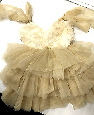 Sweet Princess Christening Birthday Wedding Party Tulle Girl Baby Dress Gown