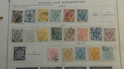 Bosnia stamp collection on Scott International pages