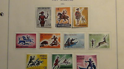 San Marino stamp collection on Scott International  pages to '94