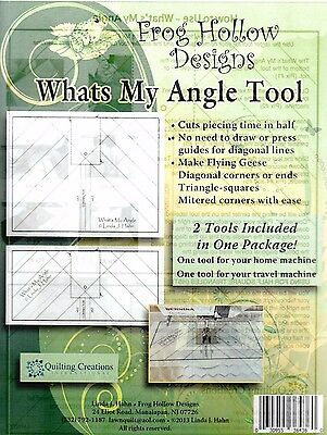What's My Angle Tool - handy seam guide for machine - Frog Hollow Designs