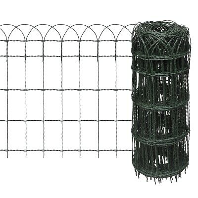 New 25x0.65m Expandable Mesh Fence Garden Edging Border Iron Wire Chain Fencing