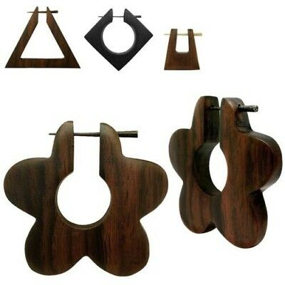 1 Pair Earrings Wood Horn Pens Pin natural Ear Studs Jewelry african