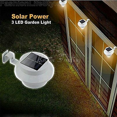 3 LED Solar Power Lamp for Garden Landscape Yard Fence Gutter Roof Wall Lights