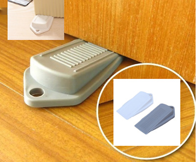 Home Rubber Door Wedges Interior Door Stopper Stop Holder Catch Floor Mounted