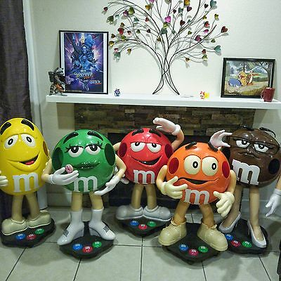Lot of 5 M&M 3 foot M&M's Store Display Figures QUICK SALE PRICE