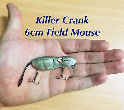 6cm Killer Crank Field Mouse Surface Bass/Cod Fishing Lure