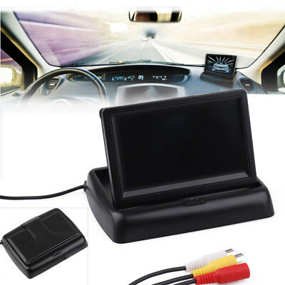 "4.3"" LCD TFT Monitor Car Rear View System Backup Reverse Camera Kit Night Vision"
