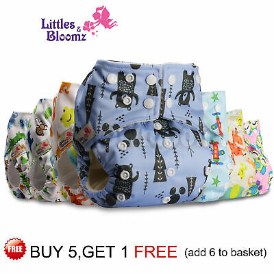 Baby Reusable Washable Pocket Nappy Adjustable Cloth Cover Wrap Bamboo