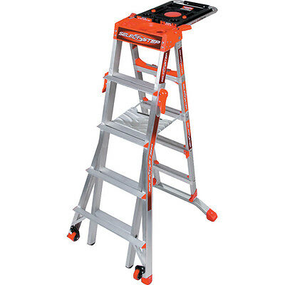 Little Giant Select Step -Multi-height Ladder- A 5,6,7 & 8 tread step in one