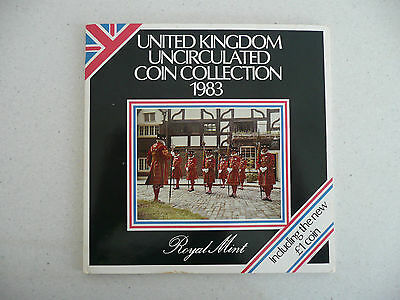 Great Britain 1983 United Kingdom Uncirculated Coin Collection Set of 8 Coins