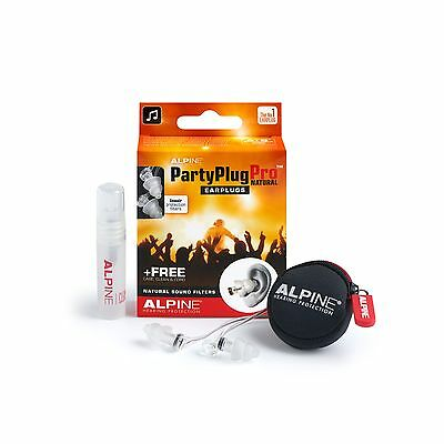 PartyPlug Pro Natural Flat Earplugs Alpine Musicians Protection Dj Party Filters