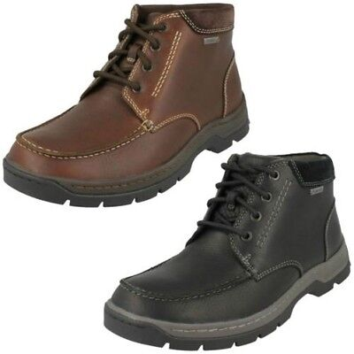 Clarks Mens Leather GTX Boots Stanten Time