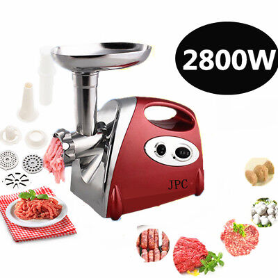 2800W Commercial Meat Grinder Red Electric Mincer Sausage Filler Maker Kibbe
