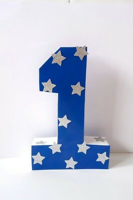 Cake Smash Prop Number One Navy Blue 1St Birthday Party Centrepiece Decoration
