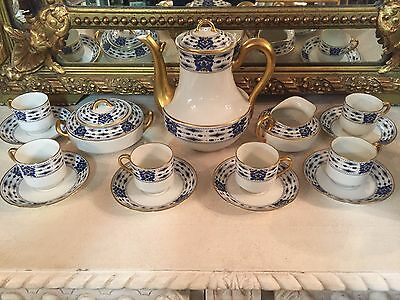 Service A Cafe Porcelaine De Limoges Haviland Art Deco