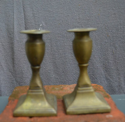 A pair of nice quality bronze small candlesticks, 19th.century, France