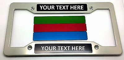 Personalized Custom Billet Aluminum License Plate Frame Anodized CDWP