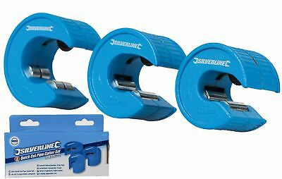 Silverline Quick Pipe Slice Cutter Set 3 Pc 15mm 22mm 28mm Cut Copper Plumbing