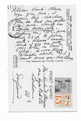 WATERGATE DURING BREAK-IN,Autographed Postcard,1972,CLARE BOOTHE LUCE,HAWAII