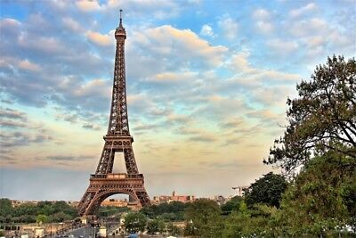 Baby 5x3ft Eiffel Tower Backdrops Vinyl Photo Backgrounds For Studio Photography
