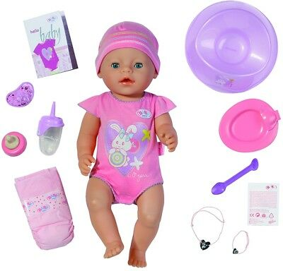 BABY Born Interactive Baby Girl Doll 43cm Play Toy, 8 Functions, 10 Accessories