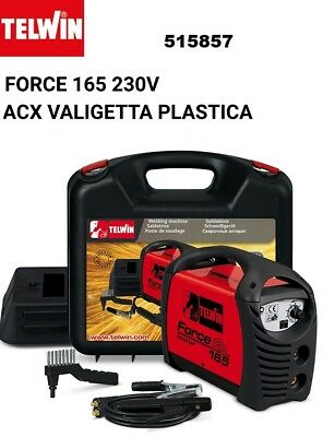 Telwin Force 165 V230 Saldatrice Inverter Con Valigetta In Plastica E Accessori