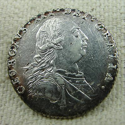 GREAT BRITAIN. George III Silver Sixpence 1787 Beautiful coin!