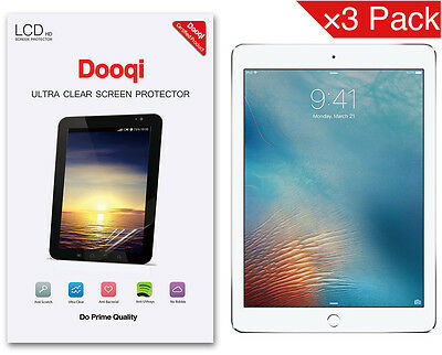 3X Dooqi HD Clear LCD Screen Protector Shield Cover Guard For Apple iPad Pro 9.7