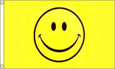 Yellow Smiley Face Festival/Party 5ft x3ft (150cm x 90cm) Flag