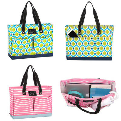 Scout Uptown Girl Zippered Market Diaper Travel Tote Bag: Picasso Pink Queen Bee