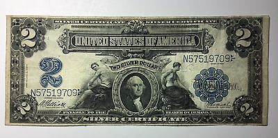 "1899 $2 Large Note ""mini Port Hole"" , Nice Clean Note"
