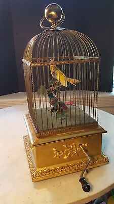Antique Double Singing Bird Music Box France Large Animated *Sound Video Added *