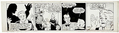 """DALE CONNER ULREY """"Mary Worth's Family"""": Six daily strips ORIGINAL ART Full Week"""