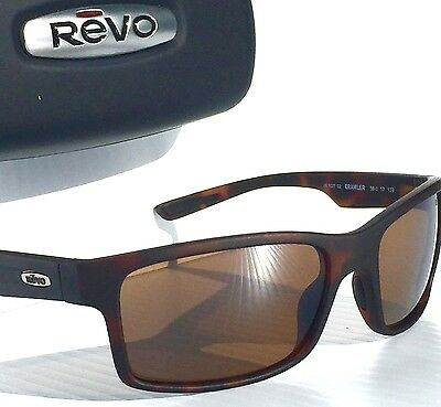 48bde13d7d NEW  REVO CRAWLER Tortoise Matte POLARIZED Brown Terra Len Sunglass 1027 02  BR
