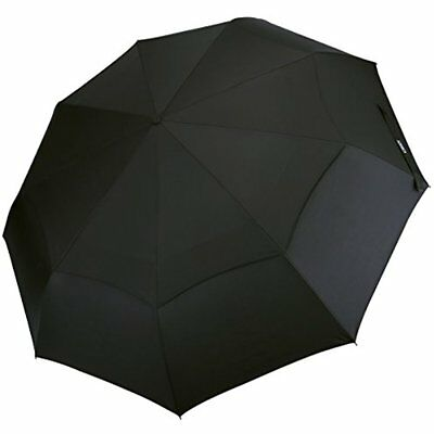 Compact Folding Golf Umbrella Windproof 48 Inch 9 Ribs Double Canopy Vented Auto