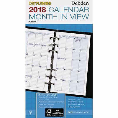Collins Debden 2018 Monthly Personal Edition Dayplanner