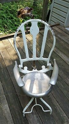 Antique Dentist Doctor Chair Examination Medical Cast Iron Heavy