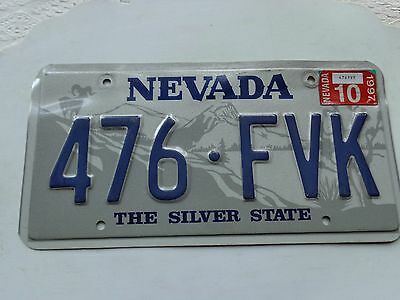 NEVADA license plate  (OVER THREE YEARS OLD)