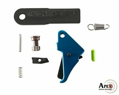 Apex Tactical Blue S&W M&P Shield Duty/Carry Flat-Faced Enhancement Trigger Kit